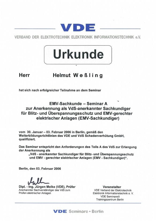 Zertifikate - EWP Management