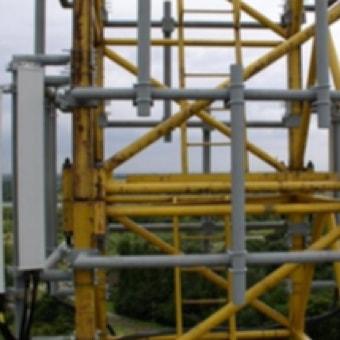 Turn Key Montage eines Stahlgittermastes 46m